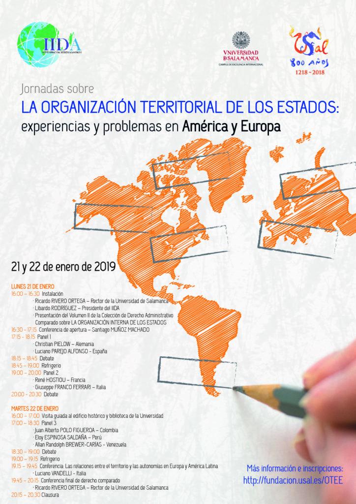 LA ORGANIZACION TERRITORIAL DE LOS ESTADOS - SALAMANCA programma convegno 21-22 gennaio 2019